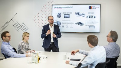 The workshop area offers a free-thinking space for exchange, discussion, sharing of knowledge, and expertise. (PRNewsfoto/Coveris Management GmbH)