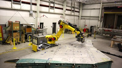 Shape Fidelity Mobile Multi-Use Robot (MMUR) system at Robins Air Force Base in Warner Robins, Georgia.
