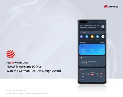 HUAWEI Assistant · TODAY ganó el Premio Red Dot: Diseño de Marcas y Comunicación (PRNewsfoto/Huawei)