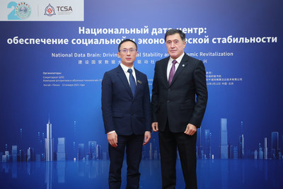 SCO Secretary-General Vladimir Norov (Right) TCSA Chairman Adkins Zheng (Left)