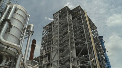 The recovery boiler at Georgia-Pacific's Brewton mill burns residual material from the paper-making process and generates steam to power the entire mill. The structure has 15 floors and is 226-feet tall, and includes a 75-megawatt turbine that can generate enough electricity to serve 60,000 homes, or the entire city of Auburn, Ala. The $388 million project went online in 2016.