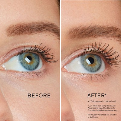 Curl Effect (Efecto Rizo) de RevitaLash Cosmetics antes y después