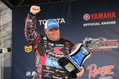 Bill Lowen, of Brookville, Ind., has won the 2021 Guaranteed Rate Bassmaster Elite at Pickwick Lake with a four-day total of 83 pounds, 5 ounces.