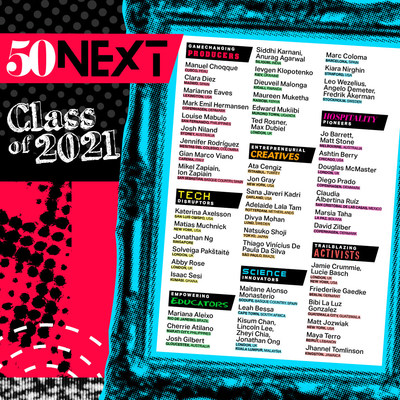 The inaugural 50 Next list, created by the organisation behind The World's 50 Best Restaurants.
