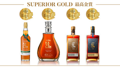 Kavalan awarded a record 4 Superior Golds in 2021 TWSC